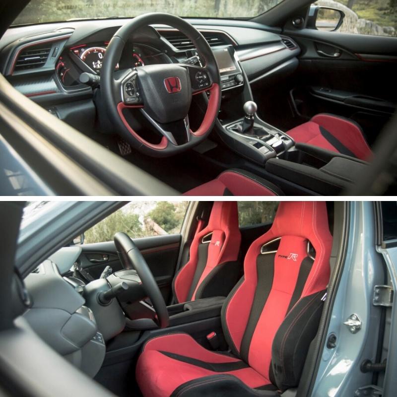 Interior carro Honda Civic Type R vermelho