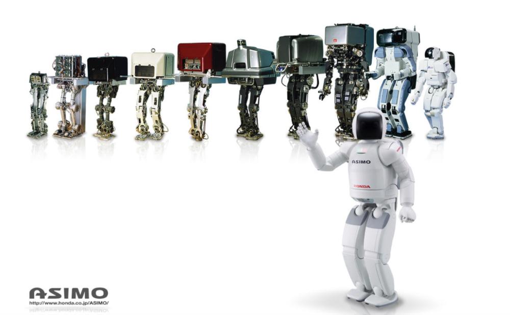 Evolução do robô Asimo