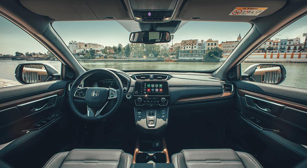 Interior do automóvel Honda