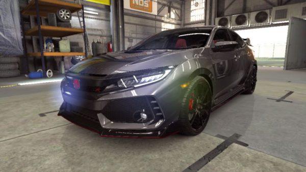 Carro Honda no jogo CSR Racing