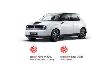 Honda e, carro elétrico vencedor dos prémios Reddot