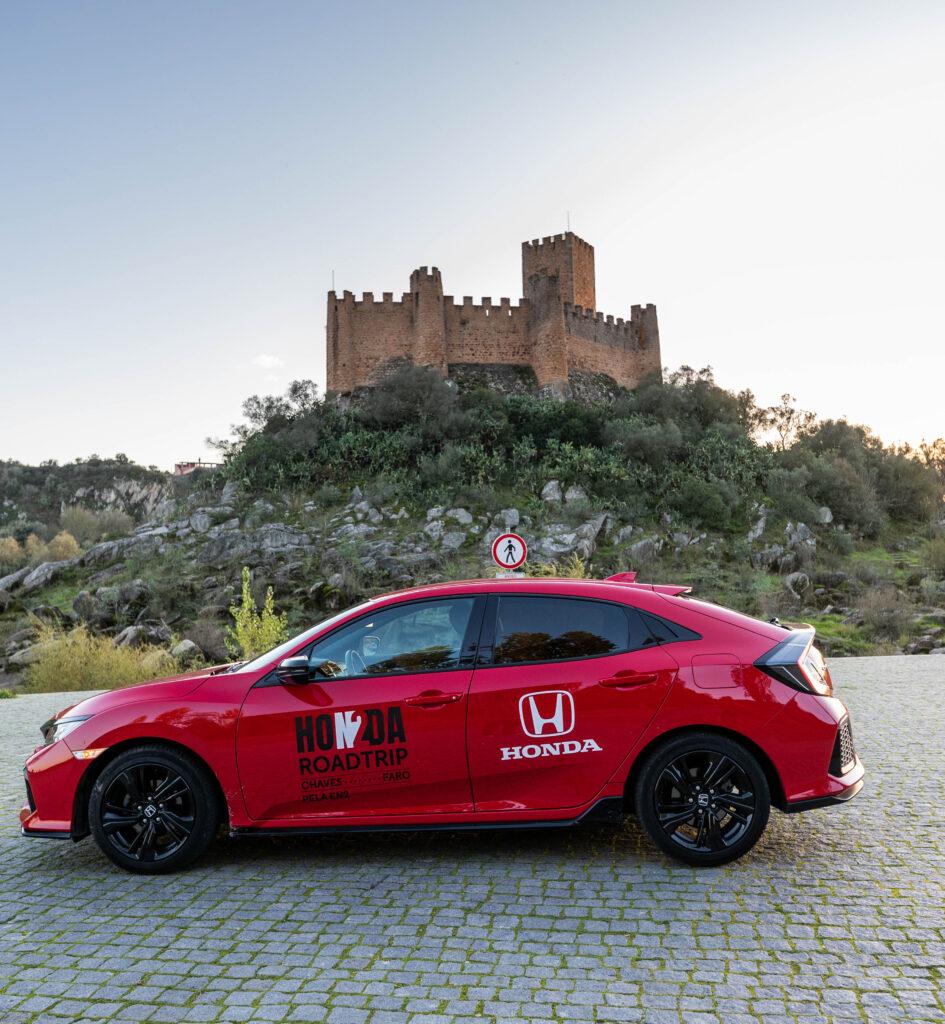 Castelo de Almourol e o Honda Civic
