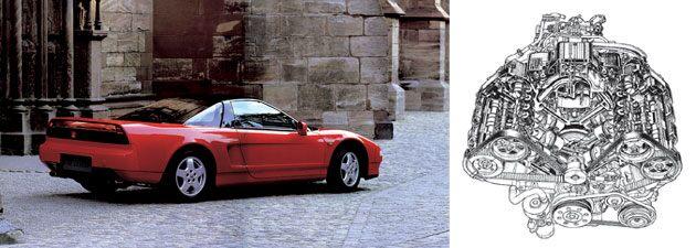 Honda NSX - Motor DOHC VTEC
