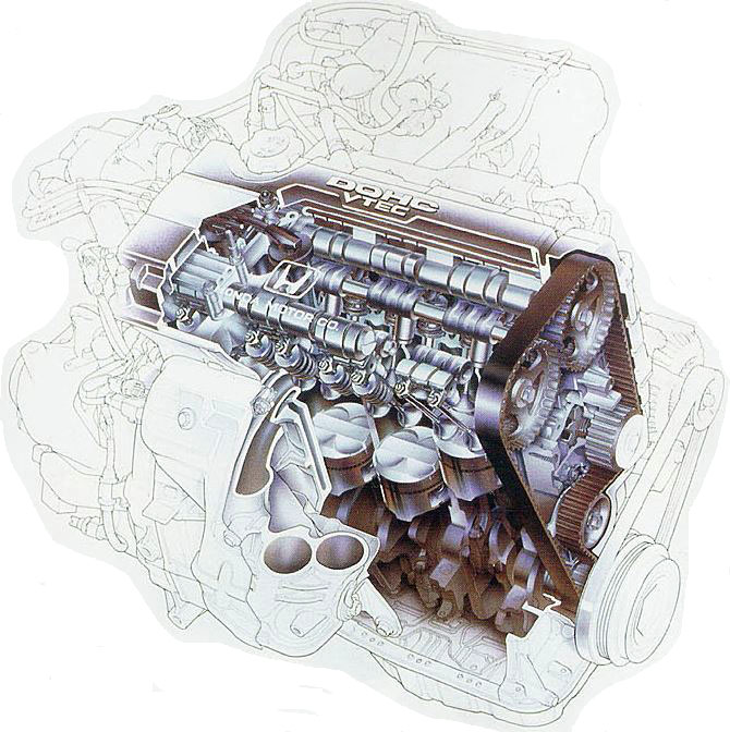 Motor DOHC VTEC