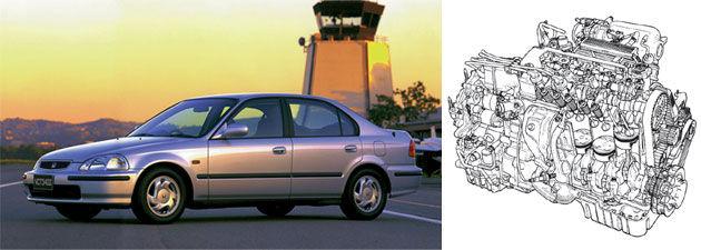 Motor SOHC VTEC Civic
