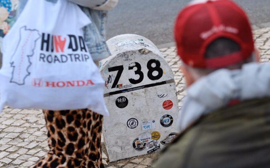 Marco 738 em Faro na Estrada Nacional 2