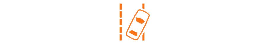 Sistema de aviso de saída de faixa de rodagem
