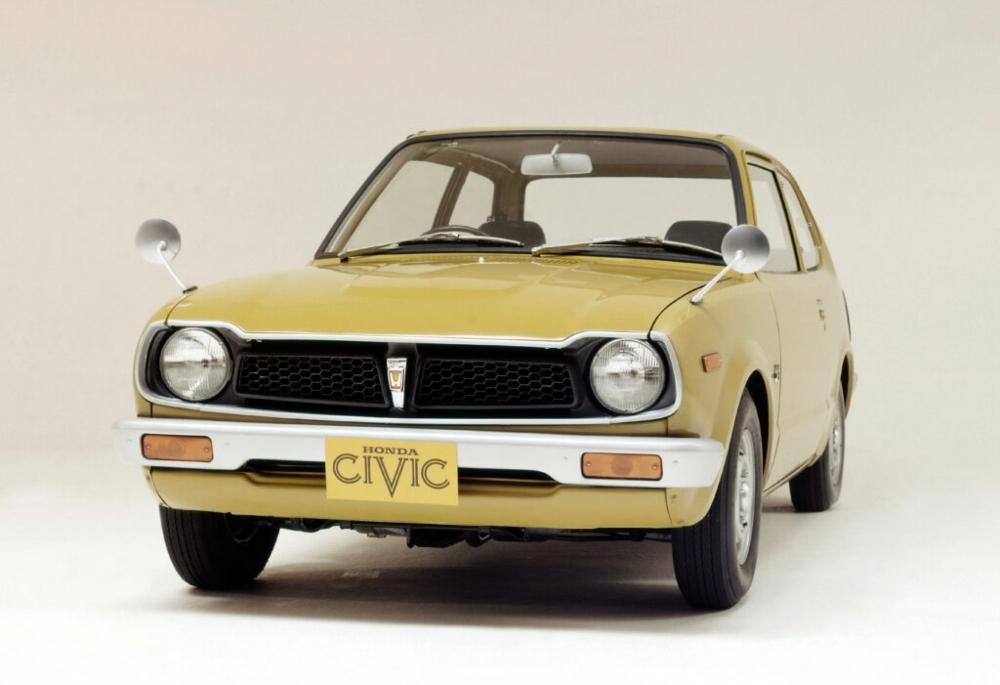Honda Civic amarelo