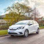 carros mais seguros - Honda Jazz Hybrid branco