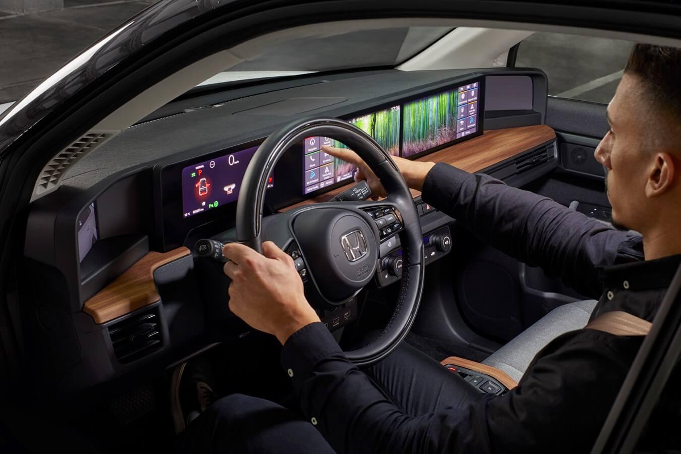 Interior do carro elétrico Honda e