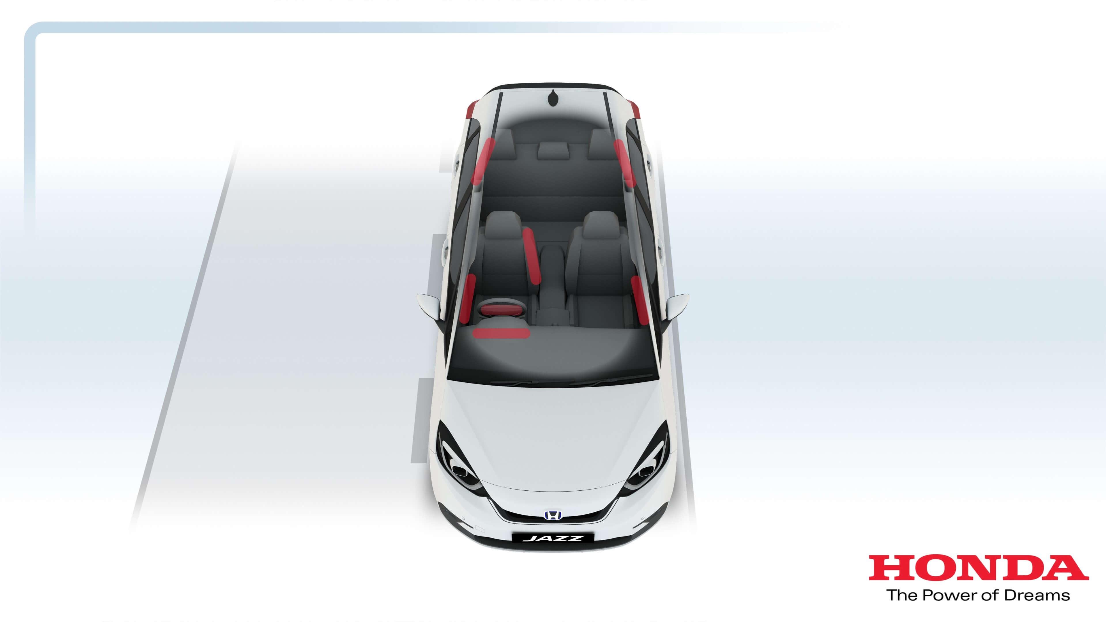 Sistema de airbags do Novo Honda Jazz