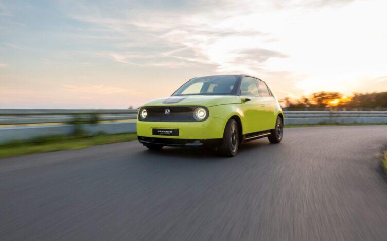Honda e Yellow Charge