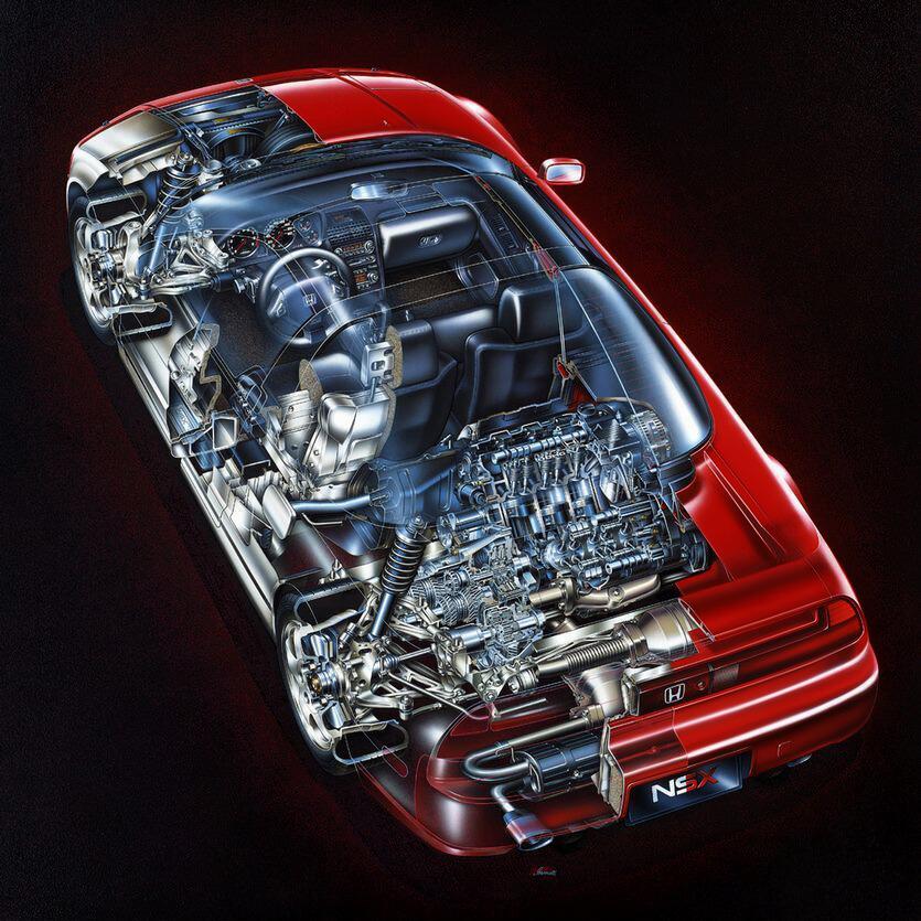 Interior Honda NSX