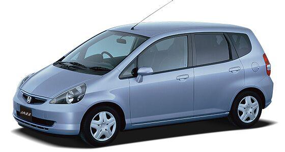 O design da primeira geração do Honda Jazz