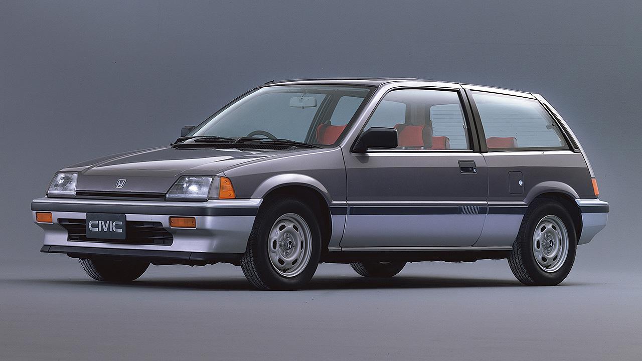 A terceira geração do Honda Civic