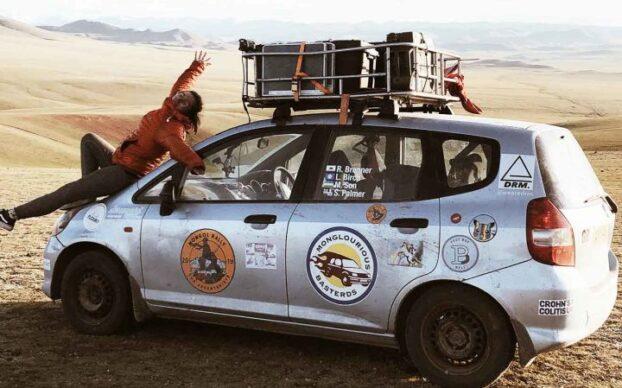 Carro Citadino Honda Jazz participa no Rally Mongol