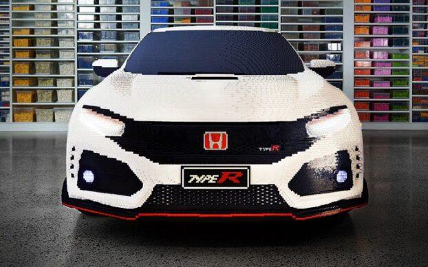 Frente do Honda Civic Type R construído pela LEGO