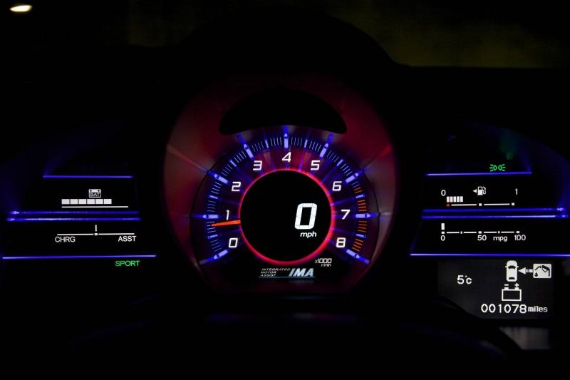 painel com os modos de condução do carro honda cr-z