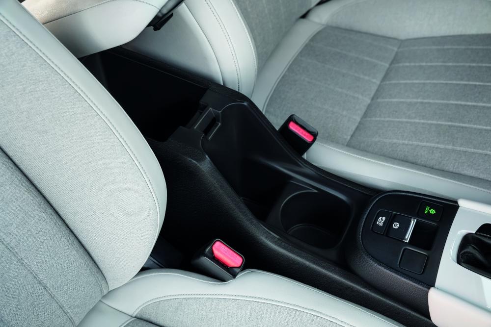 Sistema de cinto de segurança em carro Honda