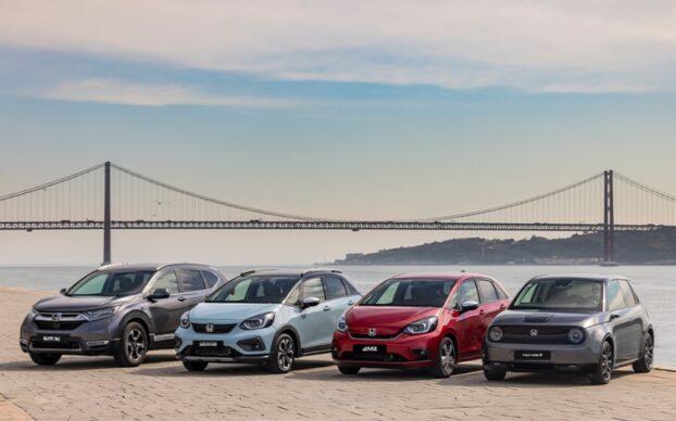 eletrificação honda e melhores momentos honda ano 2020: gama eletrica e hibrida honda em Lisboa