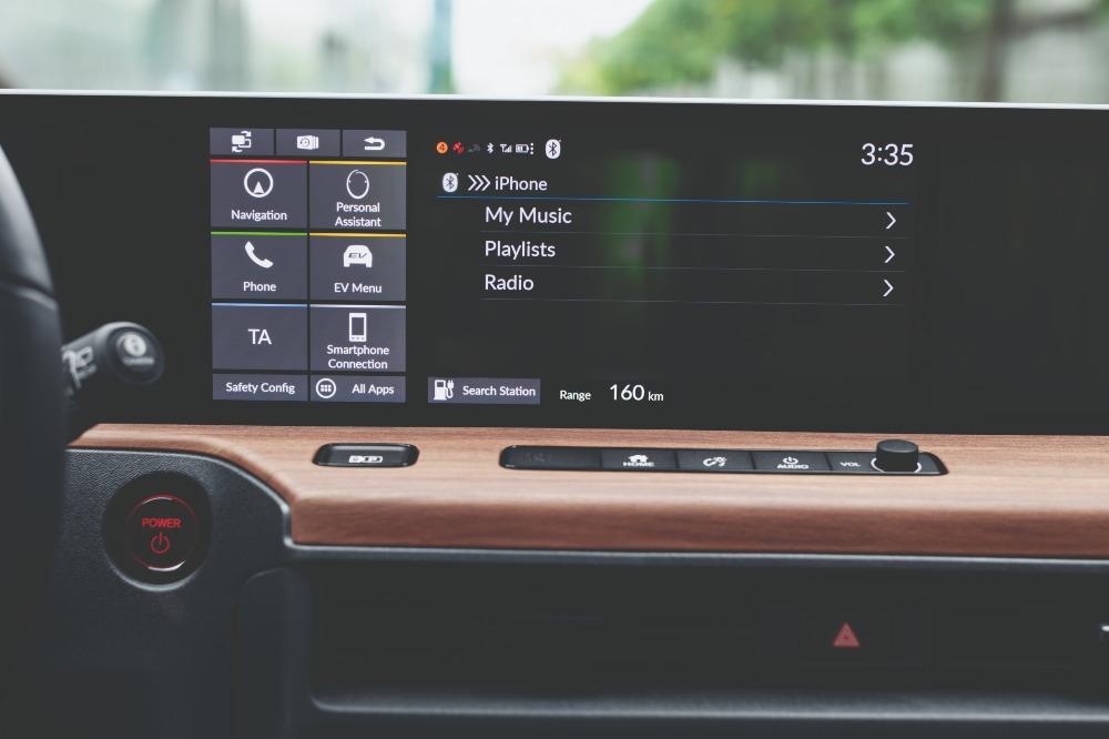 Painel digital Honda e
