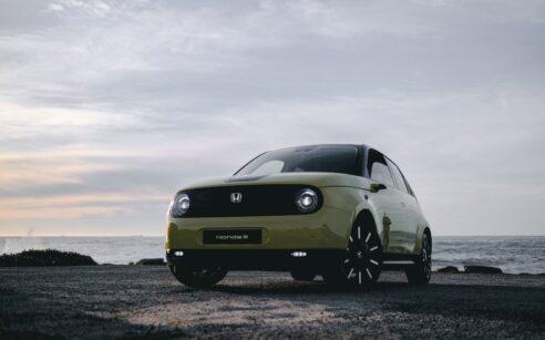Honda e amarelo